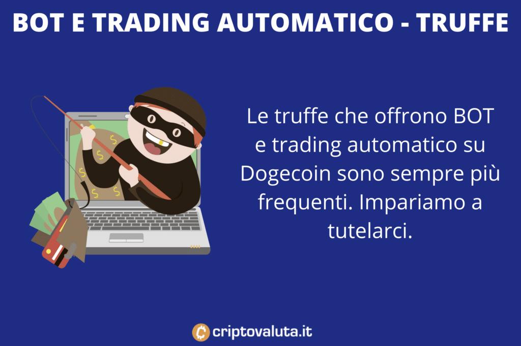 Trading Dogecoin - rischio truffe bot - di Criptovaluta.it