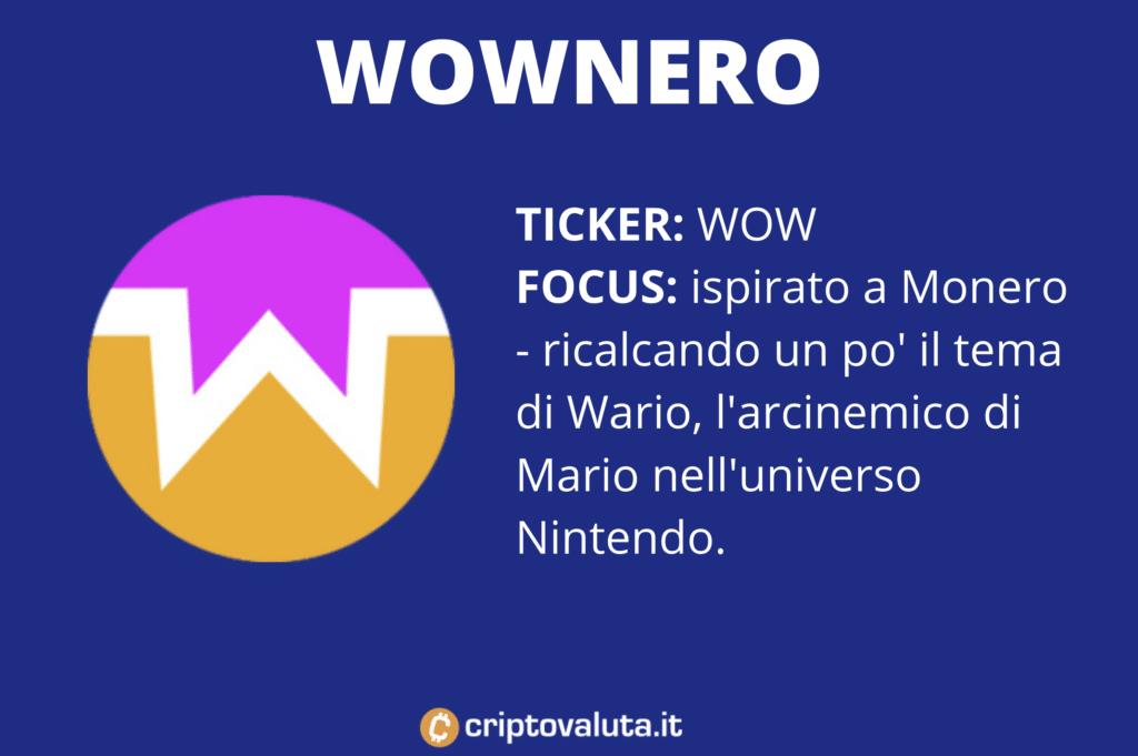 WowNero - scheda riassuntiva di Criptovaluta.it