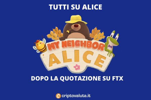 ALICE VOLA - l'analisi di Criptovaluta.it