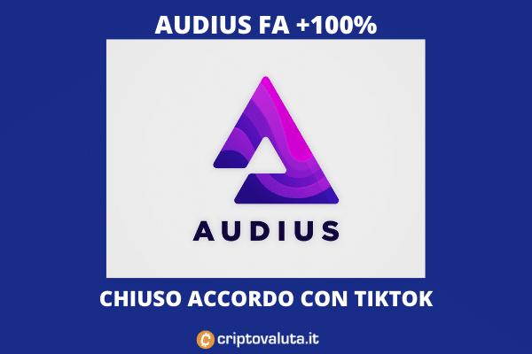 Audius spiegazione boom - di Criptovaluta.it