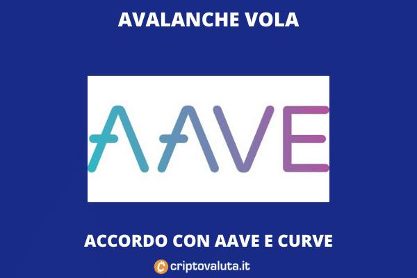 boom avalanche grazie ad aave - di criptovaluta.it
