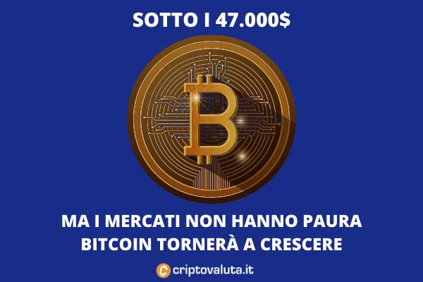 Bitcoin sotto i 47.000$ - analisi tecnica di Criptovaluta.it