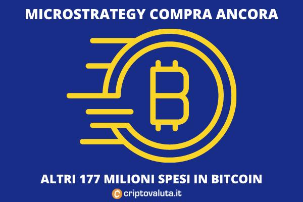 MicroStrategy - altri 177 milioni spesi in bitcoin - di Criptovaluta.it
