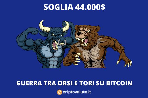 Bitcoin orsi tori - battaglia - lettura di Criptovaluta.it