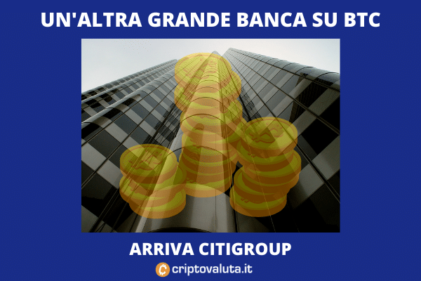 Citigroup investe in Bitcoin tramite Futures - di Criptovaluta.it
