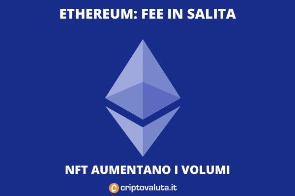 Fee ethereum in aumento - l'analisi di Criptovaluta.it