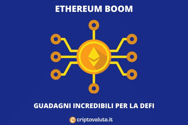 Ethereum guida il boom DeFi - di Criptovaluta.it