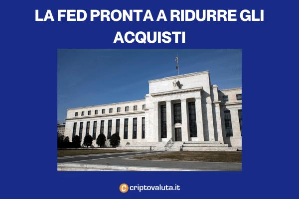Fed tapering - effetti su Bitcoin