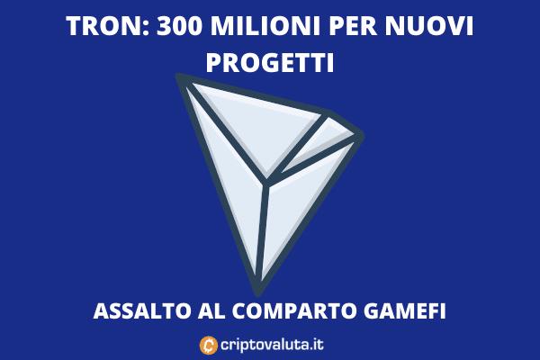 Tron progetti gamefi - l'analisi di Criptovaluta.it