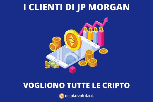 JP Morgan allarga la sua offerta di cripto