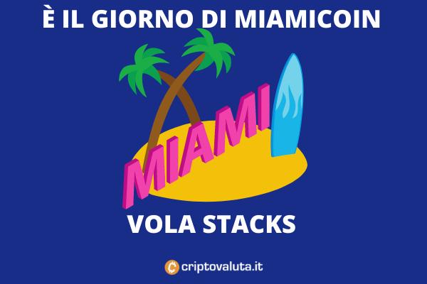 MiamiCoin - esordio il 3 agosto - come funziona