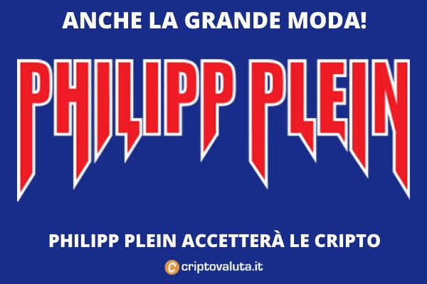 Philipp Plein criptovalute - partnership con Coinify