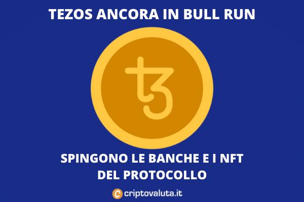 Bull run di Tezos - le ragioni spiegate da Criptovaluta.it