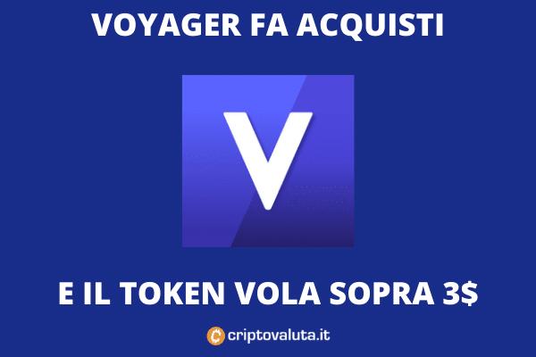 Voyager VGX volo sul mercato - acquistato Coinify