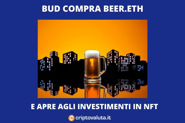 Budweiser investe in beer.eth e in un NFT - l'analisi di Criptovaluta.it