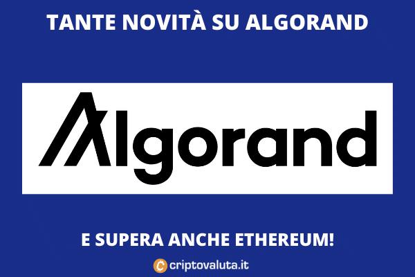 Algorand - boom in arrivo dopo il sorpasso su ETH