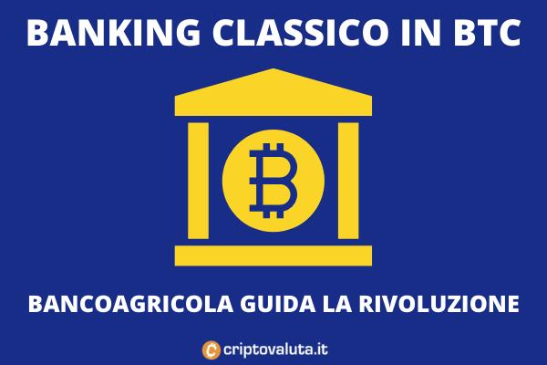 Bitcoin banking in BTC da BancoAgricola - l'analisi di Criptovaluta.it