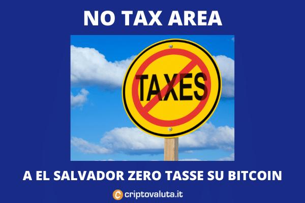 Bitcoin - zero tasse a El Salvador - analisi di Criptovaluta.it