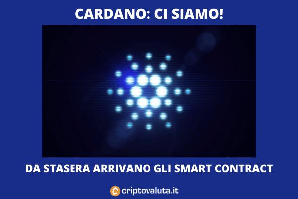 Cardano ADA: da stasera pronti gli smart contract