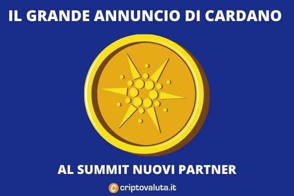 Cardano - annunci del summit - l'analisi di Criptovaluta.it