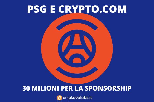 Crypto.com sponsorship PSG - di Criptovaluta.it
