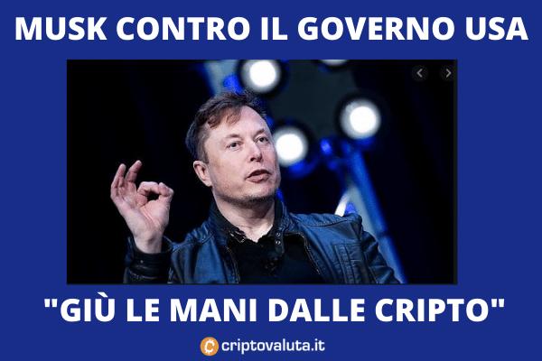 Musk contro le regole cripto - di Criptovaluta.it
