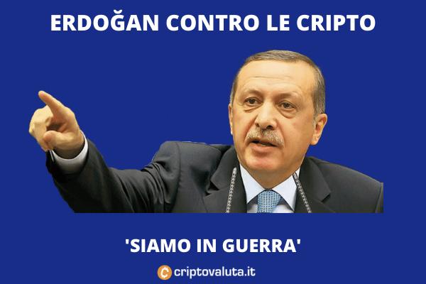 Erdogan contro cripto - no a strategia El Salvador