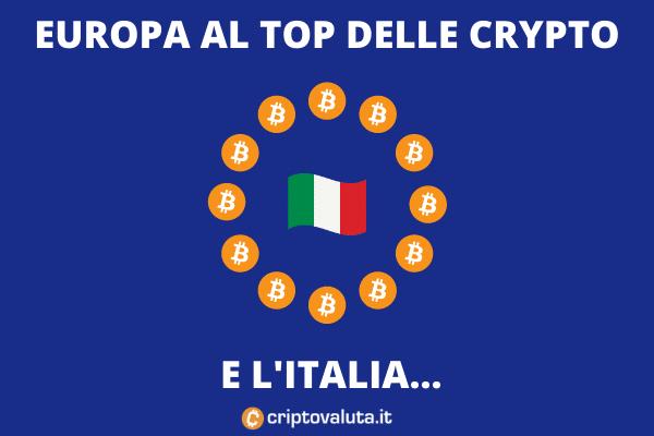 Italia e UE al top mondiale delle cripto - analisi di Criptovaluta.it