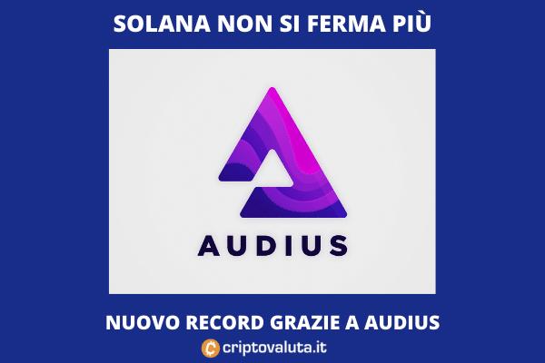 Boom di Solana - questa volta è grazie ad Audius