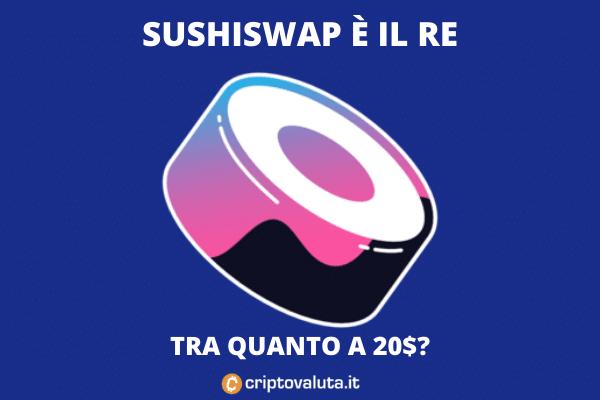 Sushiswap boom - analisi tecnica e fondamentale