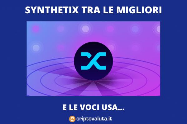 Analisi Synthetix - volo su mercato - Criptovaluta.it