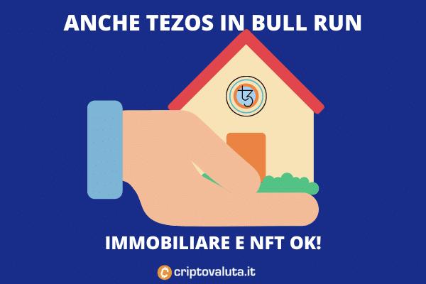 Tezos immobiliare + NFT - è boom