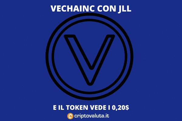 VeChain - accordo con JLL per far volare in alto il token - di Criptovaluta.it