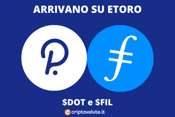 Filecoin e Polkadot arrivano su eToro - l'analisi di Criptovaluta.it