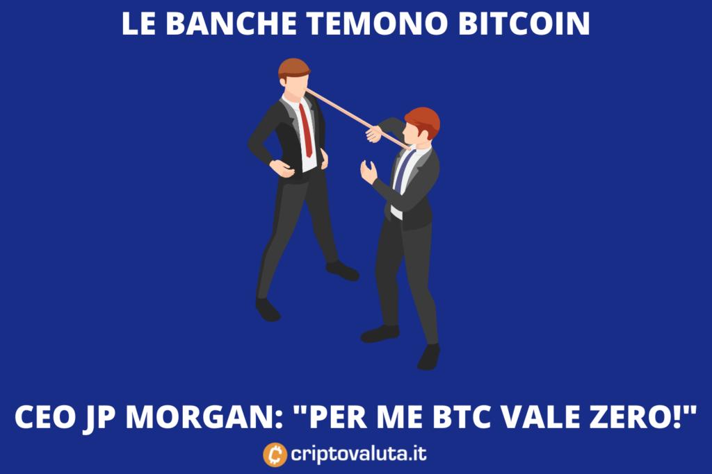 JP morgan contro Bitcoin - ma intanto intasca milioni