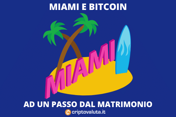 Miami e Bitcoin - presto pagamenti PA e tasse