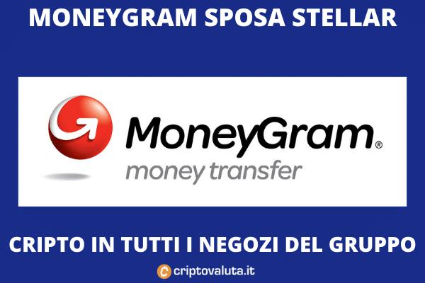 Moneygram - stellar XLM - accordo siglato