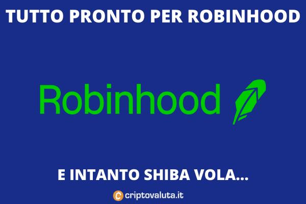Shiba Token - Arrivo su Robinhood - di Criptovaluta.it