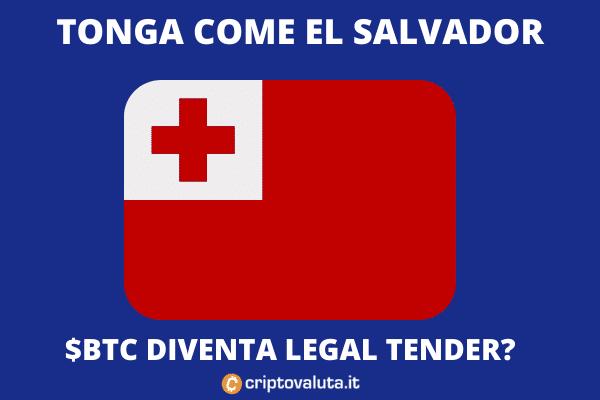 Tonga - corso legale BTC - di Criptovaluta.it