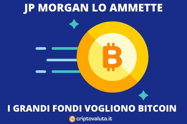 Bitcoin - JP Morgan ammette che rimpiazzerà l'oro