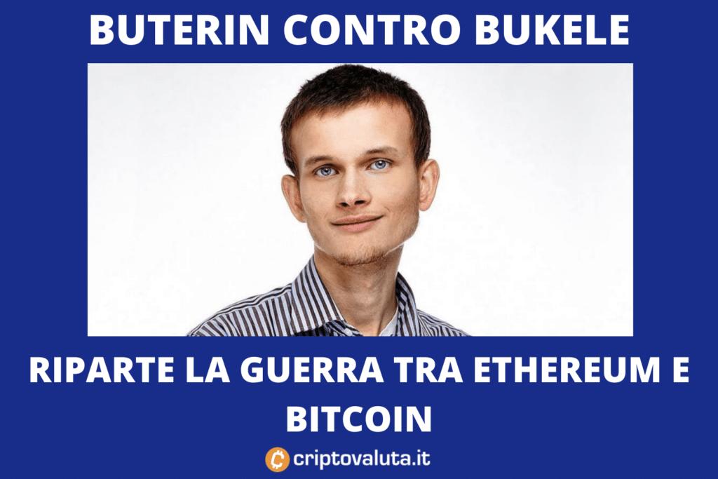 """Vergogna Bitcoin"" - messaggio Vitalik Buterin"
